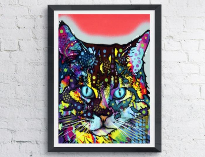 tableau-pop-art-jolie-peinture-de-chat