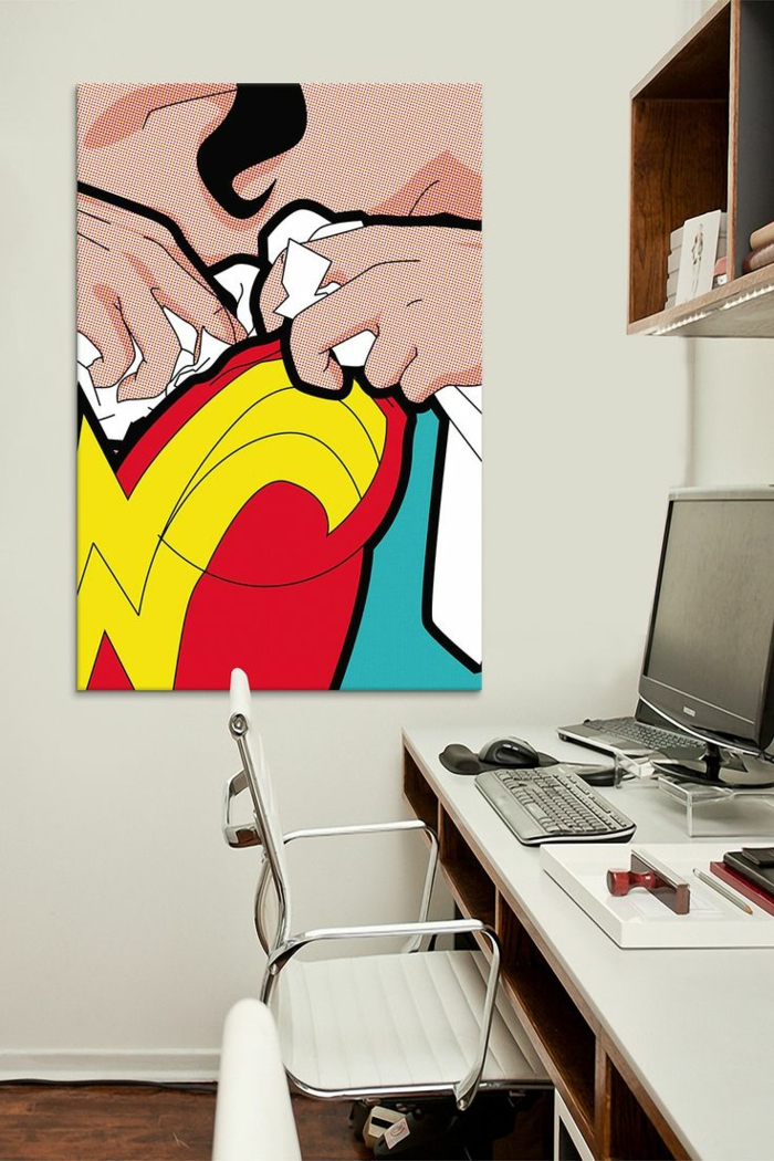 tableau-pop-art-office-de-travail