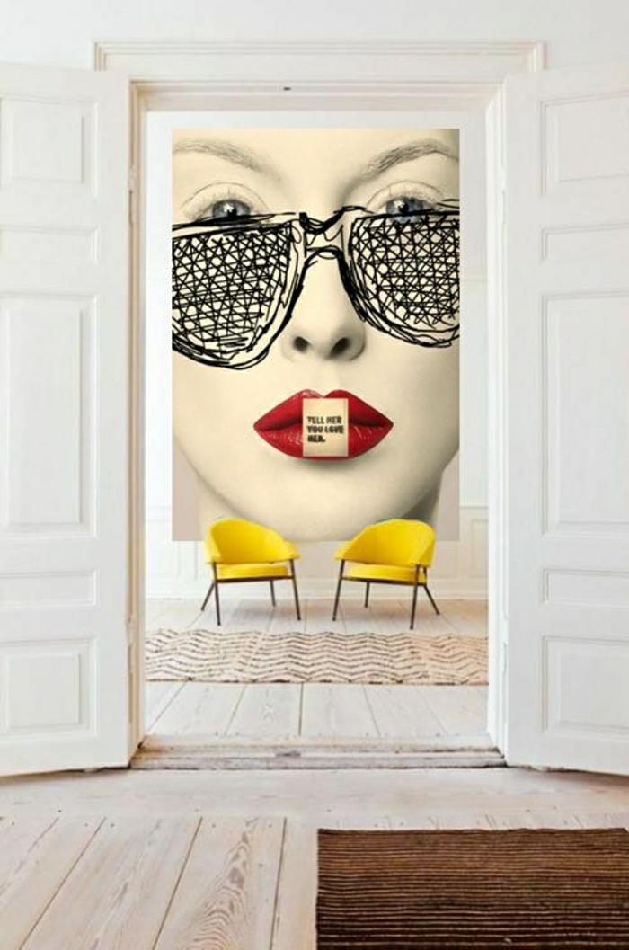 tableau-pop-art-peinture-murale-pop-art-décor-blanc