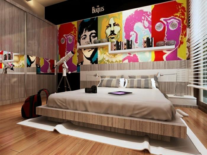 tableau-pop-art-pop-art-style-intérieur-chambre-à-coucher