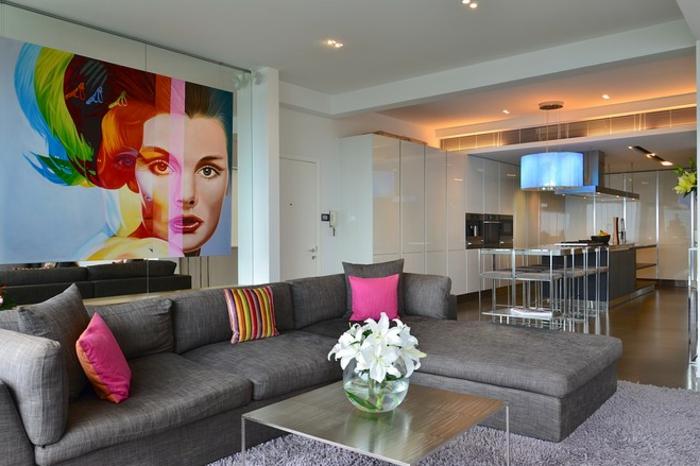 tableau-pop-art-salle-de-séjour-et-cuisine