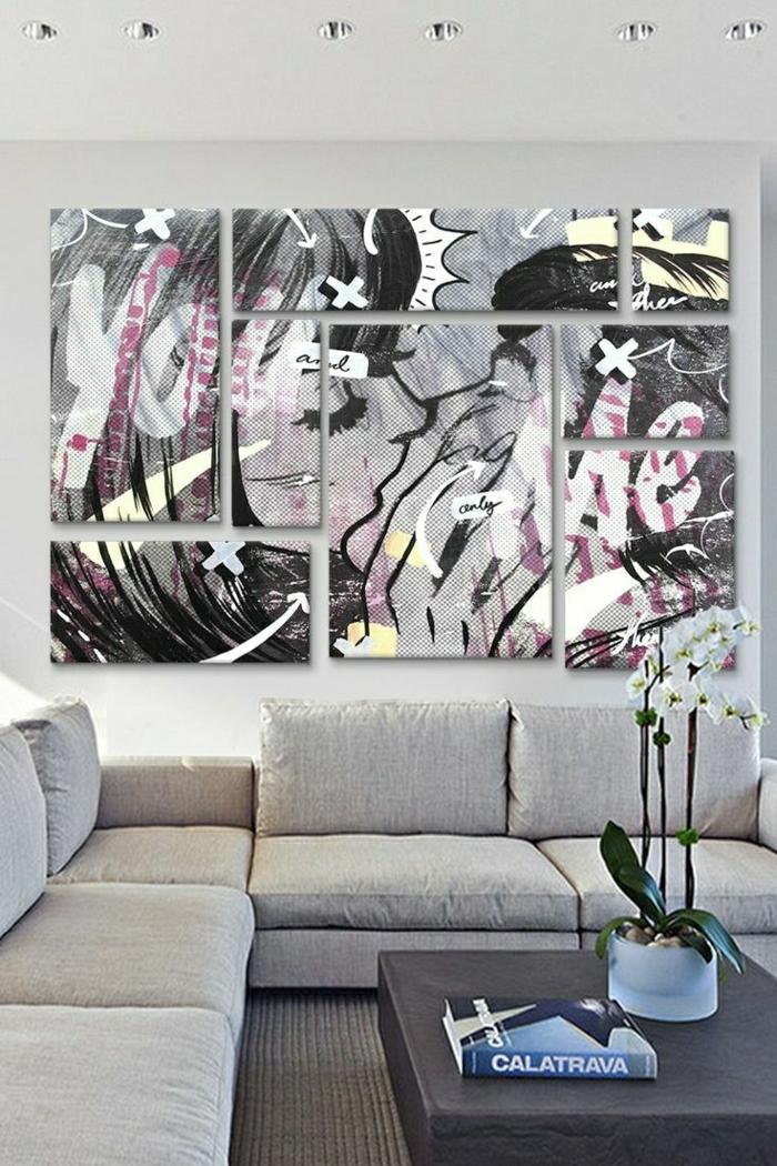 tableau-pop-art-salle-de-séjour-pop-art-style
