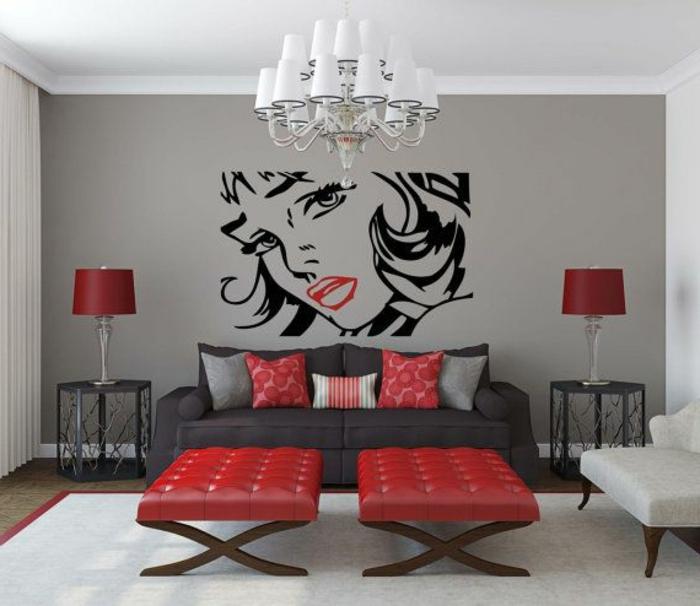 tableau-pop-art-sticker-mural-visage-de-femme