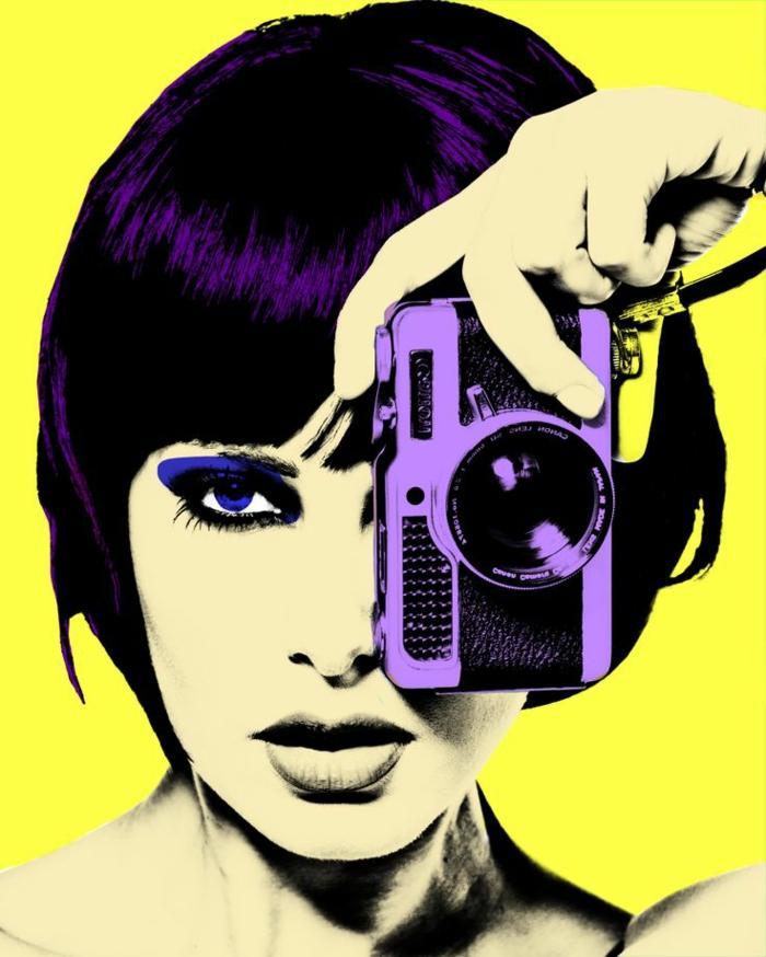 tableau-pop-art-un-pop-art-tableau-en-couleurs-vives