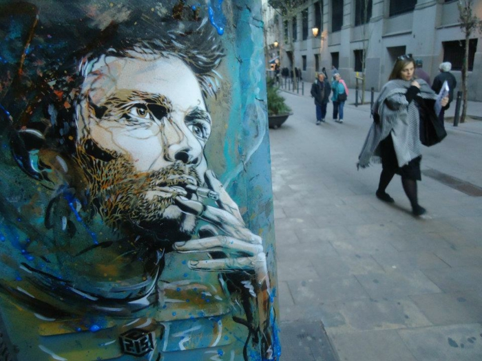 tableau-street-art-de-c214-france-portrait