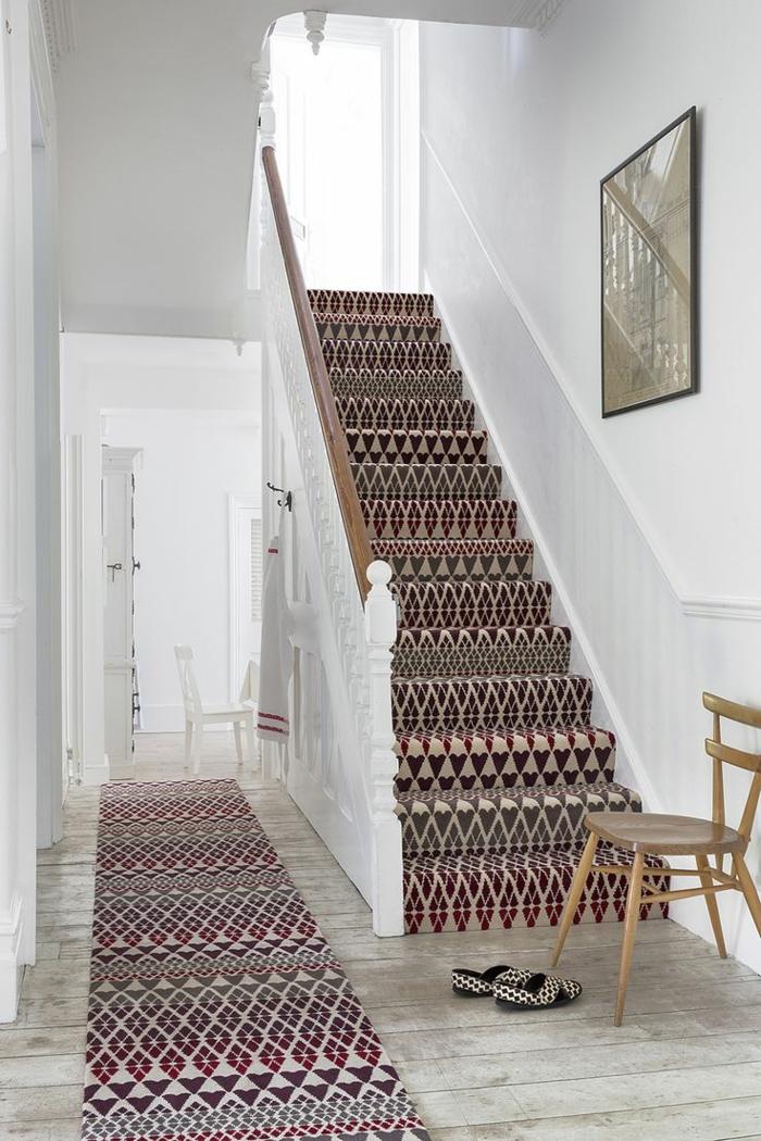 Le tapis pour escalier en 52 photos inspirantes for Escalier maison contemporaine