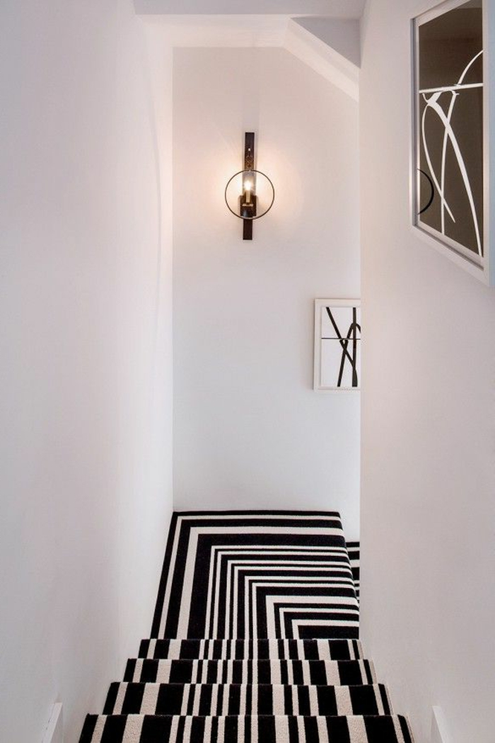 le tapis pour escalier en 52 photos inspirantes. Black Bedroom Furniture Sets. Home Design Ideas