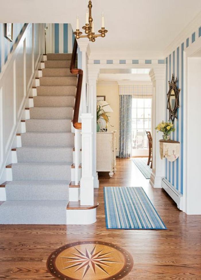 le tapis pour escalier en 52 photos inspirantes. Black Bedroom Furniture Sets. Home Design Ideas