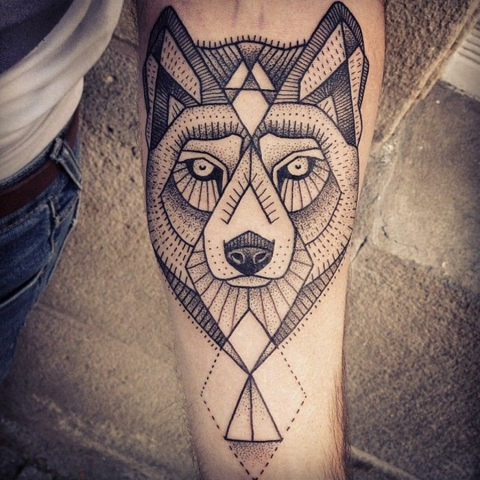 tattoo,triangle,symboles,tatouages,origami,tattoo,wolf,chien