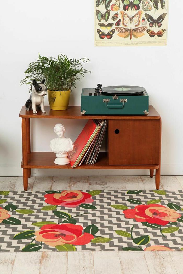 tourne-disque-vintage-décor-intéressant