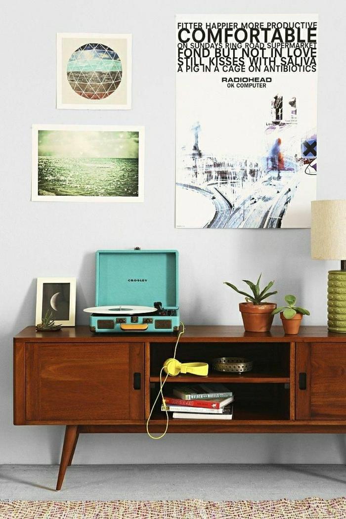 tourne-disque-vintage-turquoise