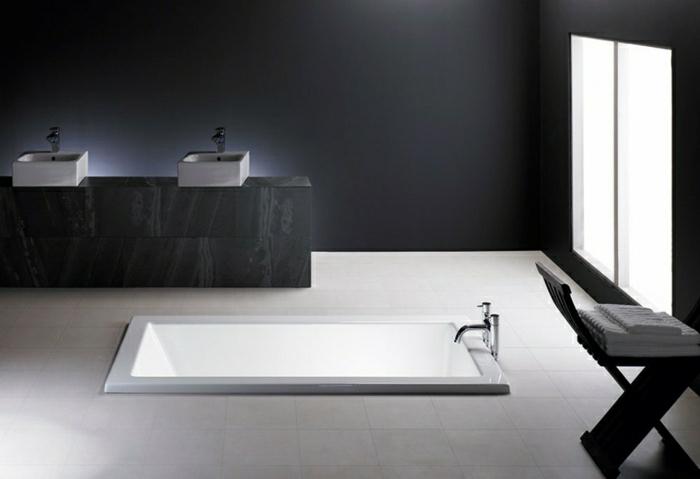 Faites vous le plaisir de la baignoire jacuzzi - Baignoire balneo noir ...