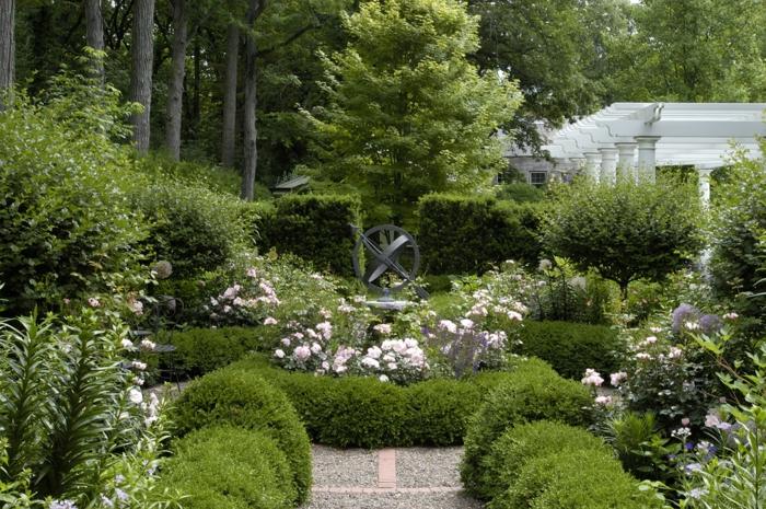 un-haie-fleurie-feuillage-persistant-jardin-vert-jeune
