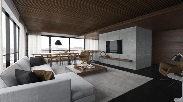 un-meuble-style-industriel-pour-le-télé-aménager-son-salon