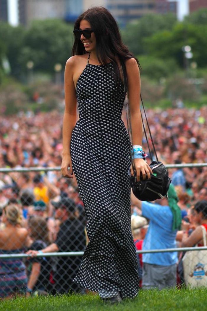 une-robe-longue-été-robe-longue-bustier-été-noir-et-blanc