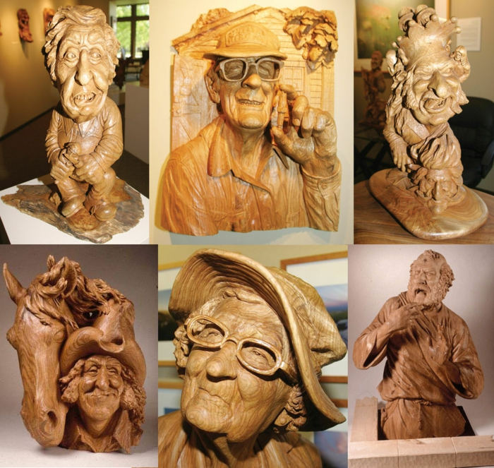 wood-sculptures-sur-bois-de-Fred-Cogelow-face-expressions