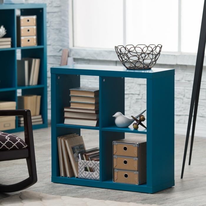étagère-cube-étagère-cubes-bleue
