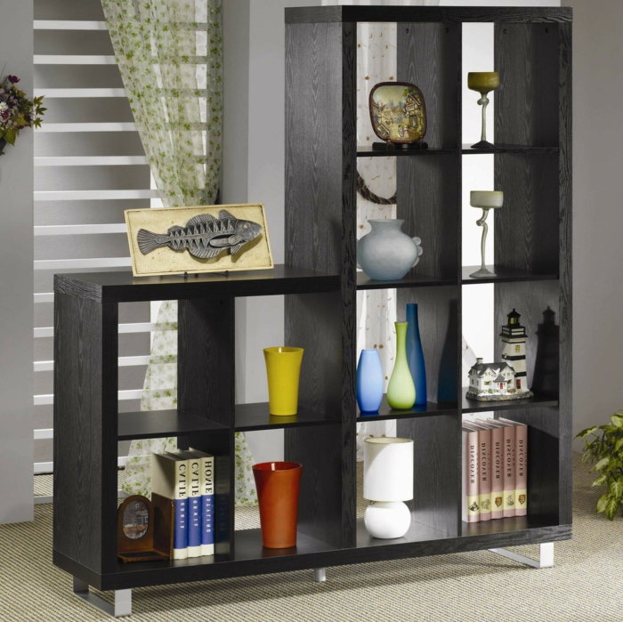 etagere noire cube. Black Bedroom Furniture Sets. Home Design Ideas