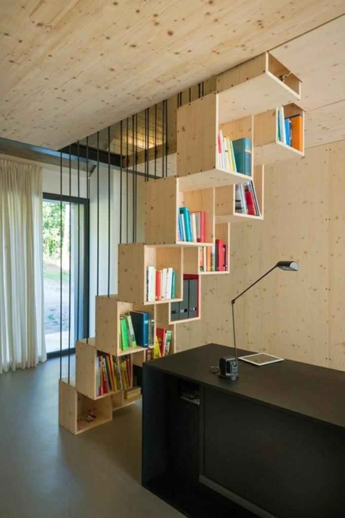 étagère-cube-étagère-escalier-fantastique-en-bois