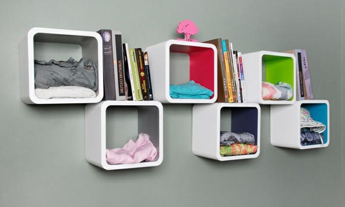 étagère-cube-étagères-cubes-flottantes