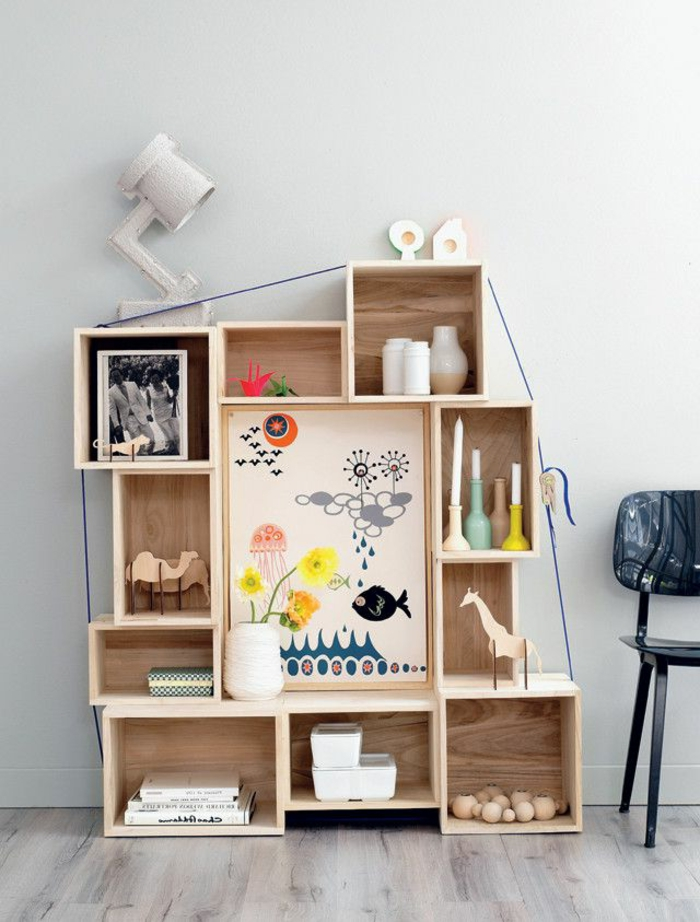 L 39 tag re cube praticit et style contemporain for Cubes de rangement mural