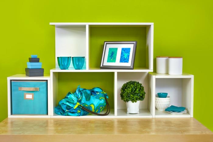 étagère-cube-décorative, rangement- minimaliste-moderne