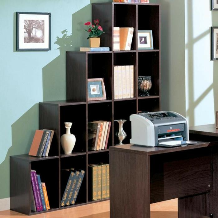 étagère-cube-en-bois-office-de-travail
