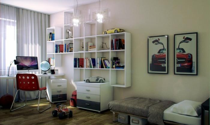 étagère-cube-intérieur-sympathique-étagère-murale-blanche
