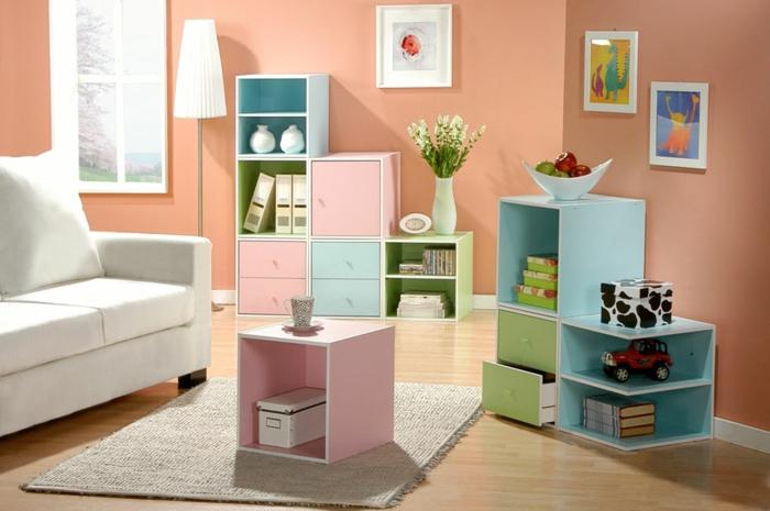étagère-cube-rangement-en-couleurs-pastels