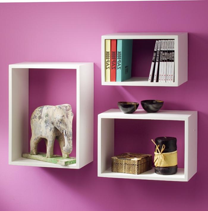 cube de rangement mural cool set de tagres murales cube meuble rangement blanc et rose eta. Black Bedroom Furniture Sets. Home Design Ideas