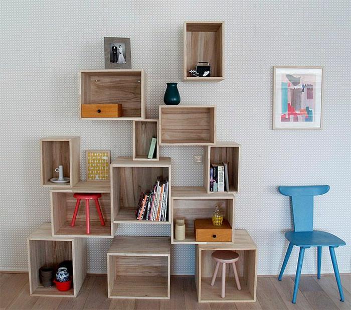 L 39 tag re cube praticit et style contemporain for Meuble mural cube