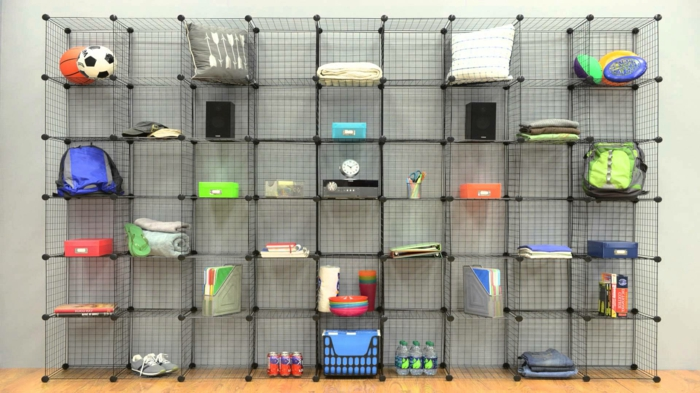 L 39 tag re cube praticit et style contemporain - Cube metallique rangement ...
