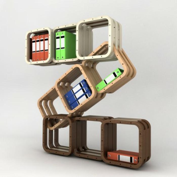 étagère-cube-unités-de-rangement-carrées