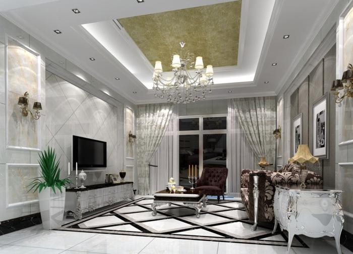 0-jolie-chambre-de-séJour-avec-un-faux-plafond-lampes-sur-le-plafond-faire-un-faux-plafond