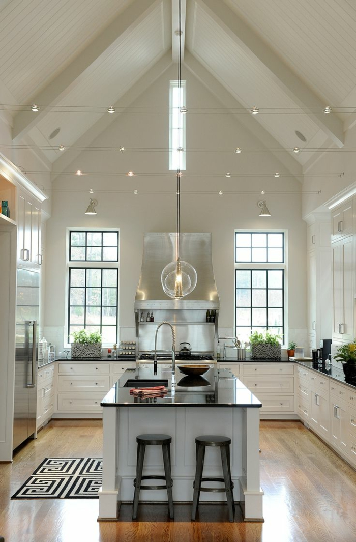 45 id es en photos pour bien choisir un lot de cuisine Luminaire pour ilot de cuisine