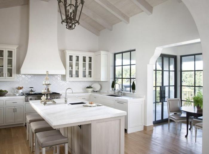1-îlot-de-cuisine-blanc-cuisine-avec-ilot-central-aménagement-de-cuisine-pas-cher-pleine-de-lumière