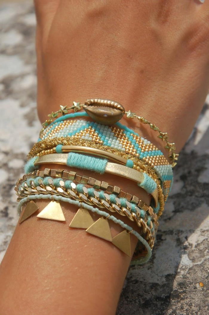 1-bracelets-brésiliens-modèle-comment-faire-un-bracelet-bresilien-idee-diy
