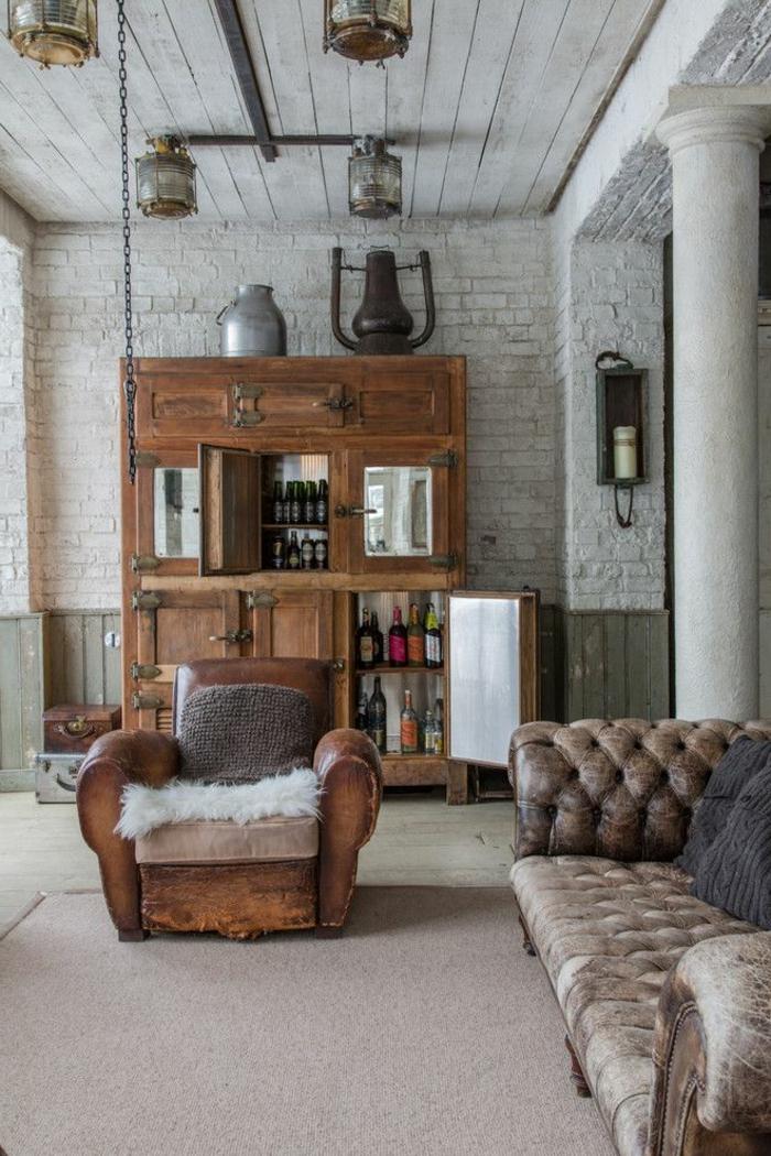 1-canapé-club-dans-le-salon-moderne-avec-sol-en-moquette-et-fauteuil-club-cuir-murs-de-briques
