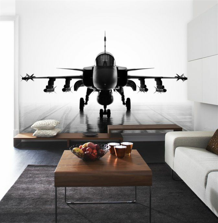 1-comment-décorer-sa-chambre-salon-salle-de-séjour-tapis-noir-une-petite-table-basse-idee-decoc-chambre