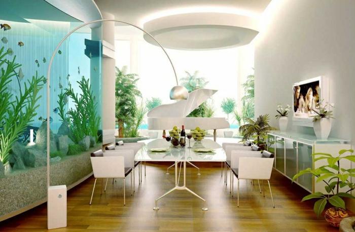 1-décoration-avec-un-aquarium-grand-idée-déco-piano-décoratif-salle-de-séjour