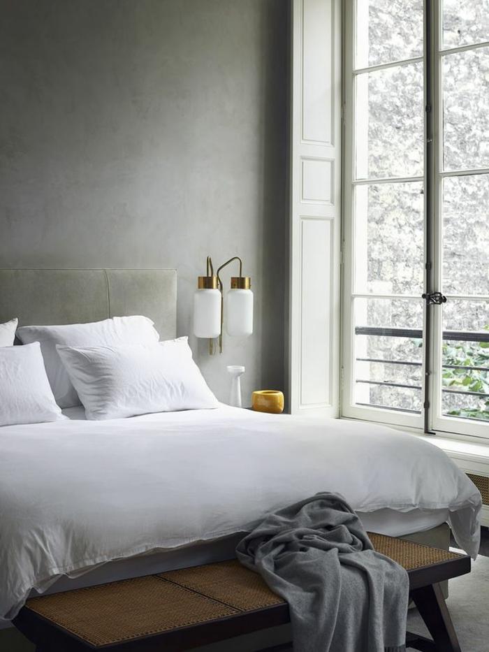 1-deco-chambre-parentale-aménager-la-suite-parentale-de-style-rétro-chic-murs-gris