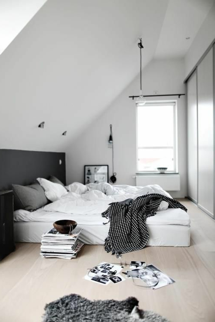 La suite parentale beaucoup d id es en 52 photos inspirantes for Deco de chambre noir et blanc