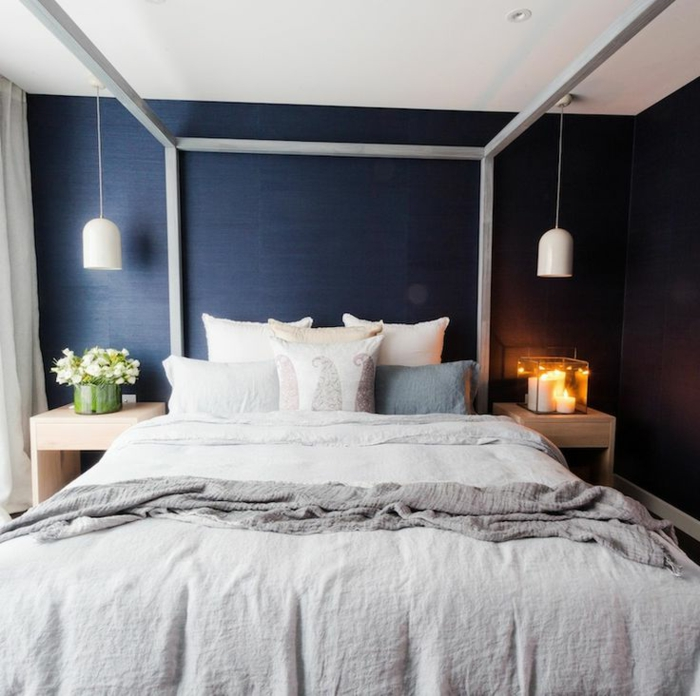 La suite parentale beaucoup d id es en 52 photos inspirantes for Chambre parentale bleue