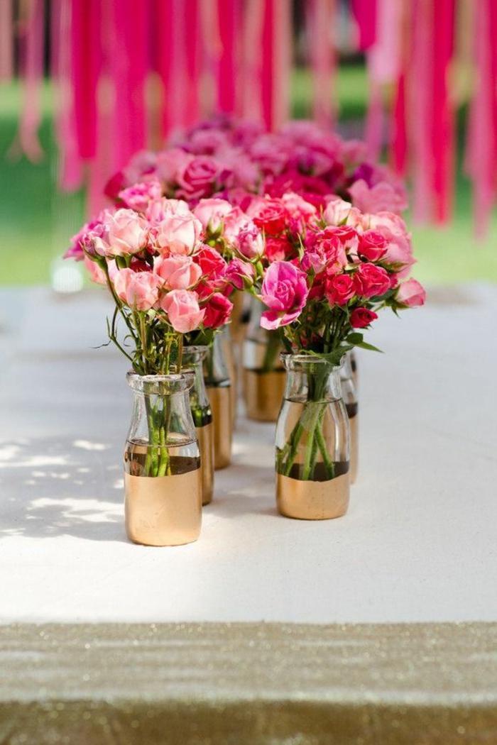 D couvrir la d coration de table anniversaire en 50 images for Decoration avec des roses