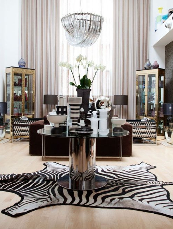Tapis zebre deco for Decoration zebre