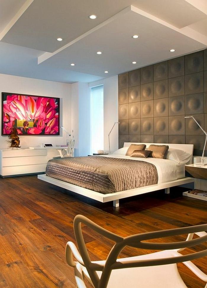 1-idéе-déco-chambre-parentale-parquette-bois-foncé-meubles-dans-la-suite-parentale