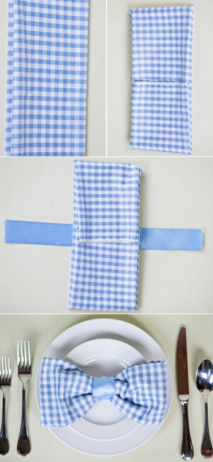 1-jolie-variante-pour-pliage-de-serviette-en-tissu-a-carreaux-blanc-bleu-set-de-table