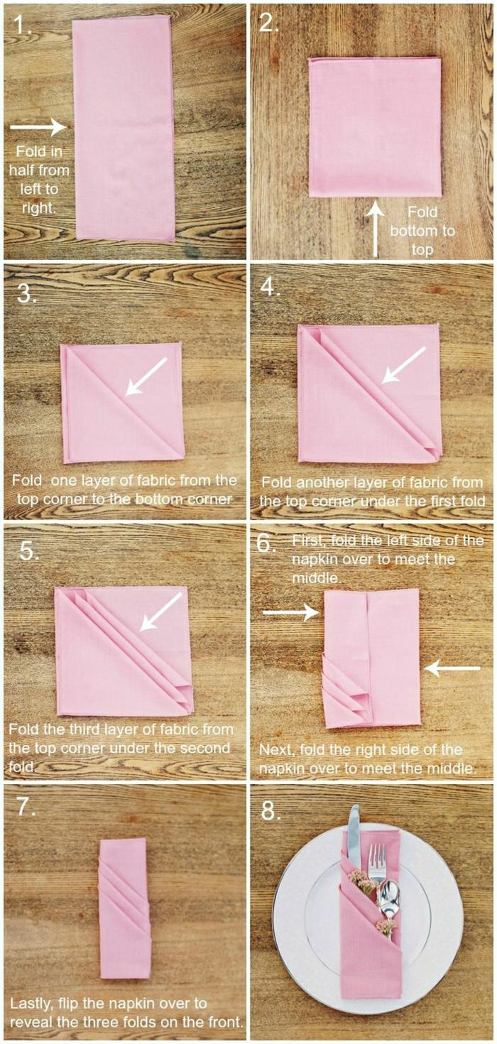 1-jolie-variante-pour-pliage-de-serviette-en-tissu-serviette-rose-pliage-serviette-rose