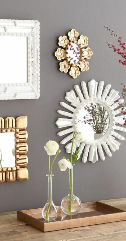 Le miroir d coratif en 50 photos magnifiques - Miroir a poser sur table ...