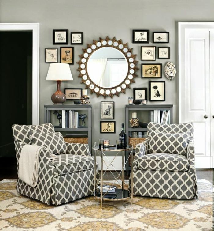 1-miroir-décoratif-mural-mur-avec-décoration-moderne-miroir-rond-ikea-tapis-baroque